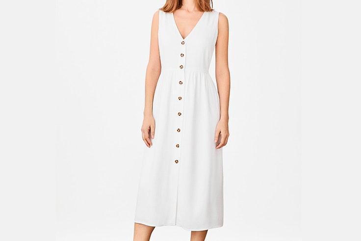 vestido-blanco-largo-botones-cortefiel