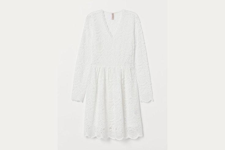 vestido-corto-encaje-hm
