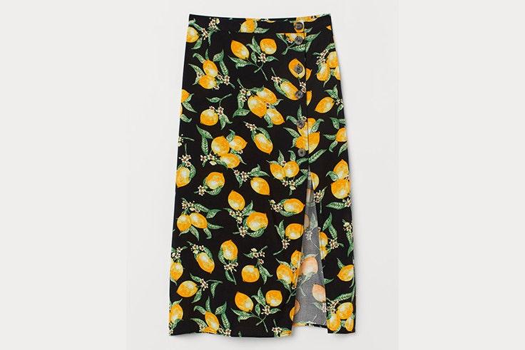 Falda H&M estampado de limones