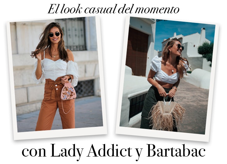 look-casual-pantalon-cargo-top-blanco-lady-addict-bartabac-influencers