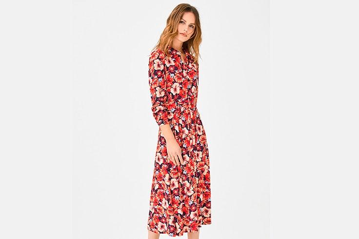 vestido-camisero-estampado-flores-cortefiel