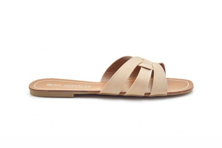 sandalia plana beige tino gonzalez