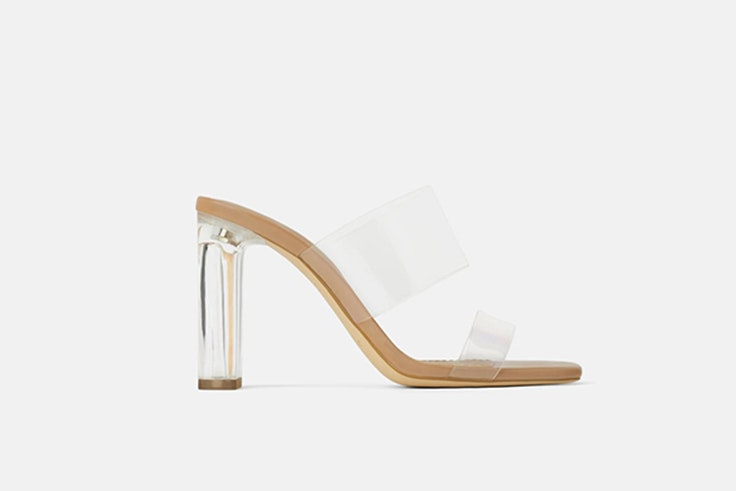 sandalias transparentes zara calzado de verano