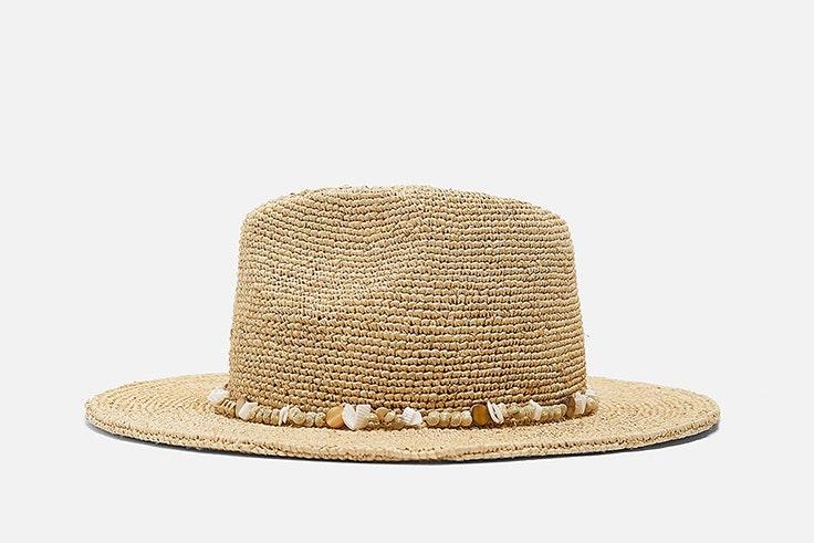 sombrero zara conchas accesorios de conchas