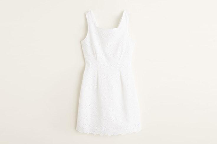vestido blanco tirantes mango