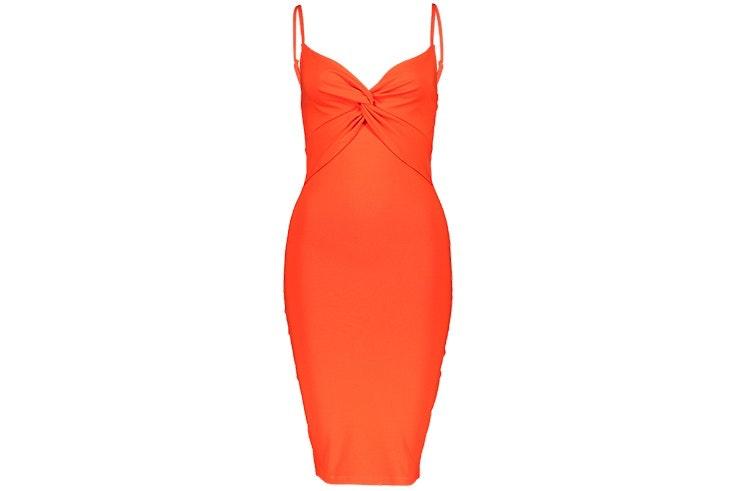 vestido naranja new yorker