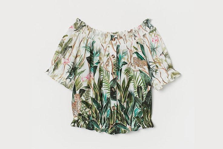 blusa verano estampado hm