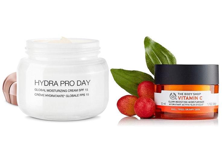Crema Hydra Pro day (20,99€) e Hidratante Iluminadora Vitamina C (26,00€).