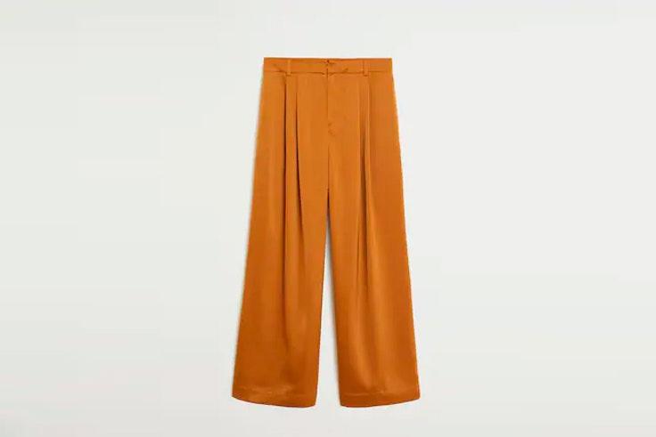 pantalon fluido mango pantalones largos