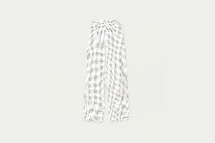 pantalon estampado de lunares pull&bear