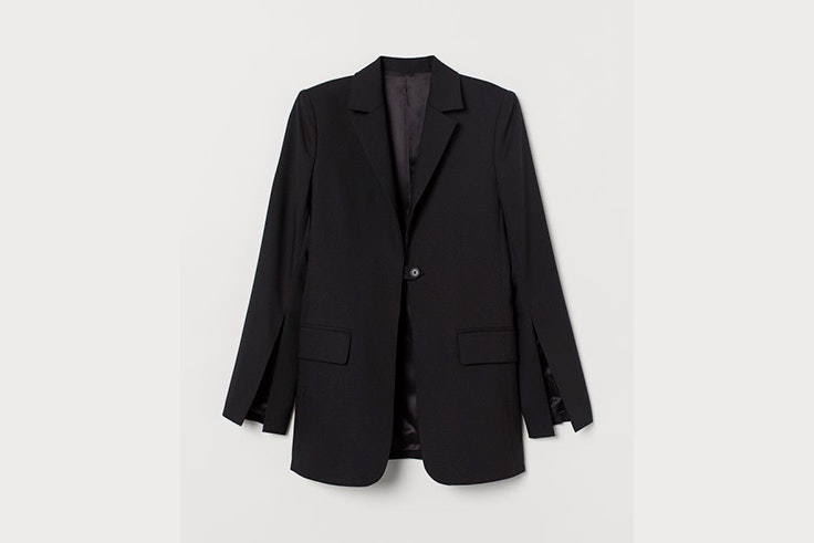 blazer americana negra hm