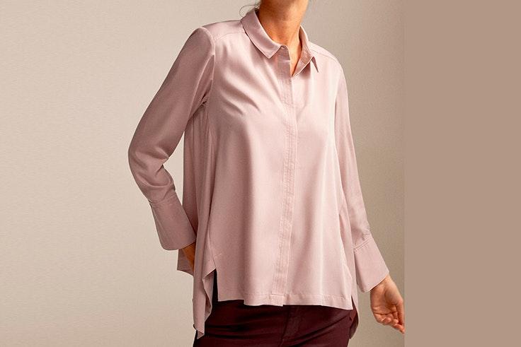 camisa color lila cortefiel