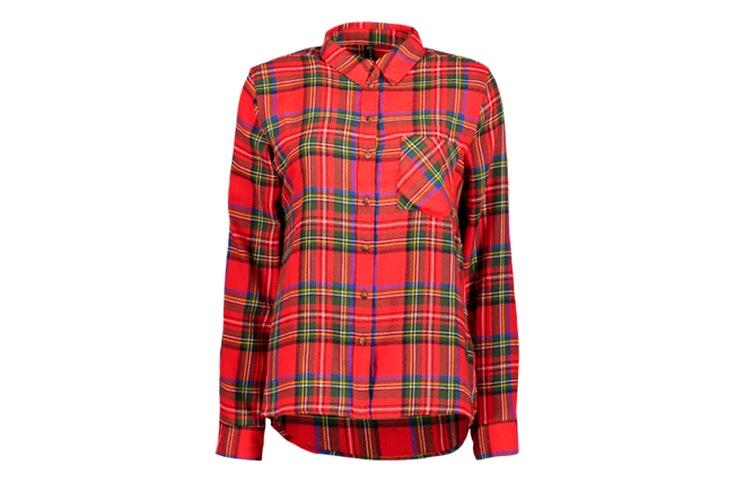 camisa estampado cuadros rojo new-yorker