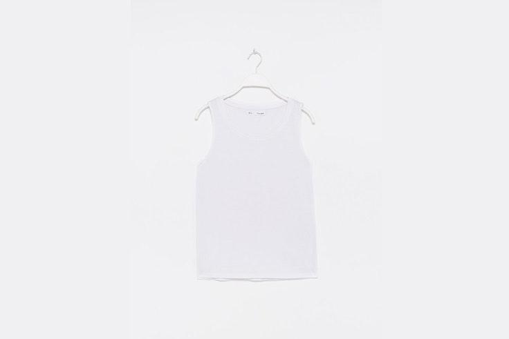 camiseta basica blanca de sfera jeanette madsen