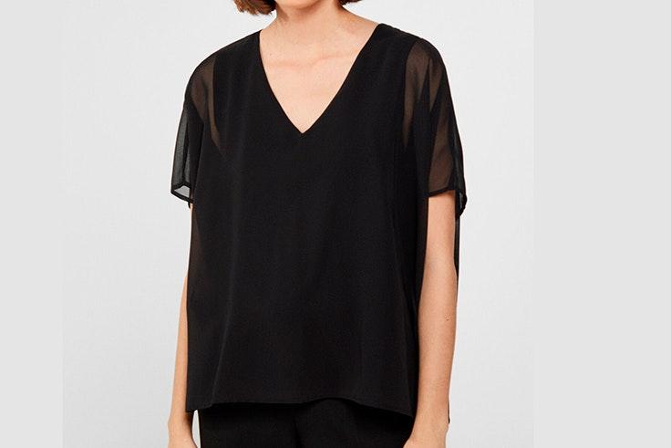 camiseta negra cortefiel