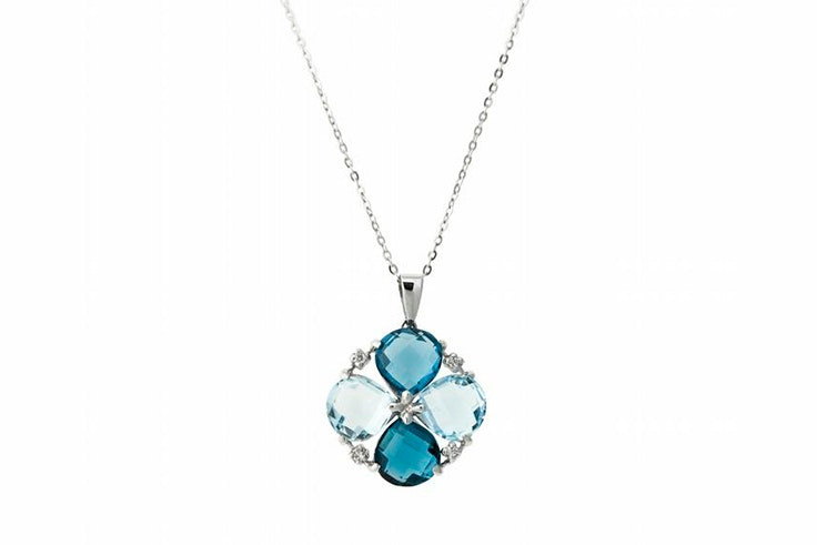 collar azul topacio flor jose luis joyería
