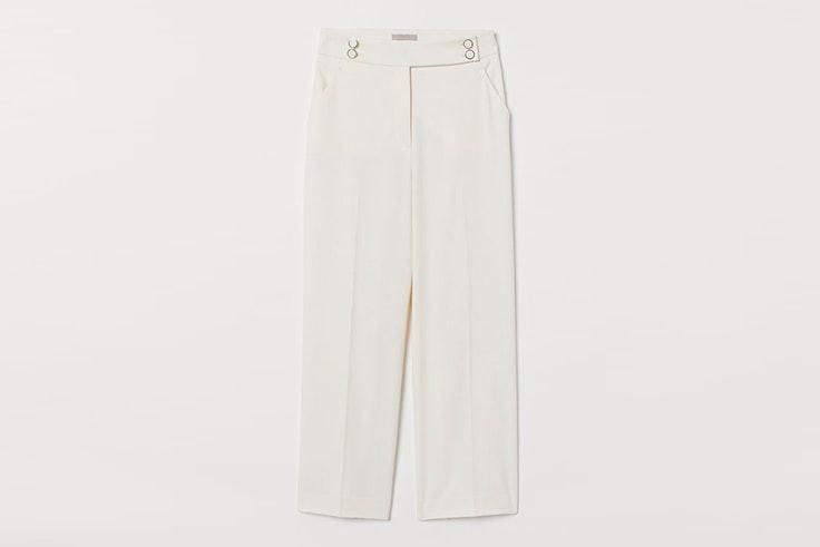 pantalon blanco largo hm
