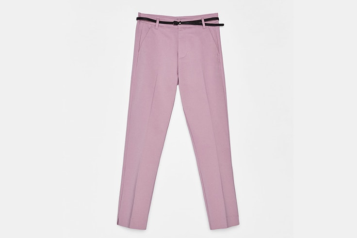 pantalon color lila bershka