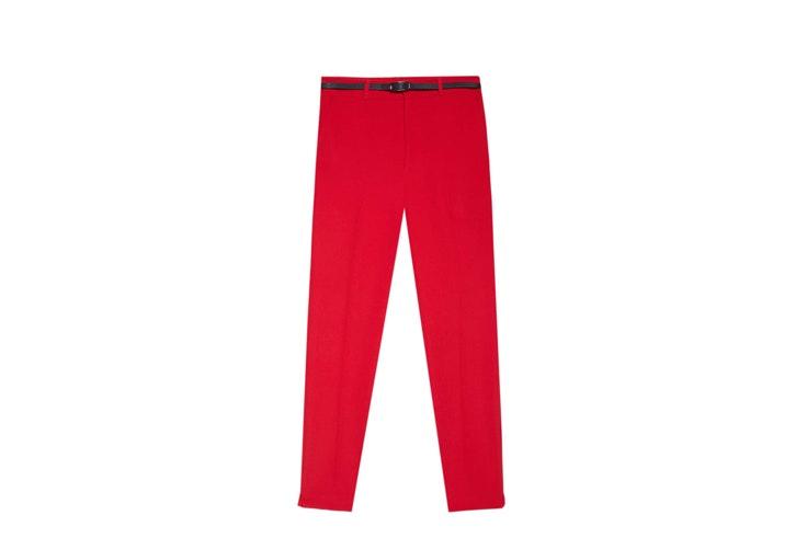 pantalon rojo stradivarius colores de este otoño