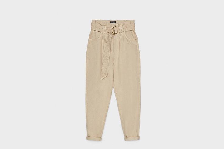 pantalon slouchy beige bershka colores de este otoño