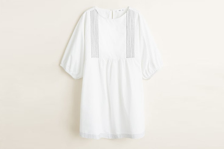 vestido blanco corto mango