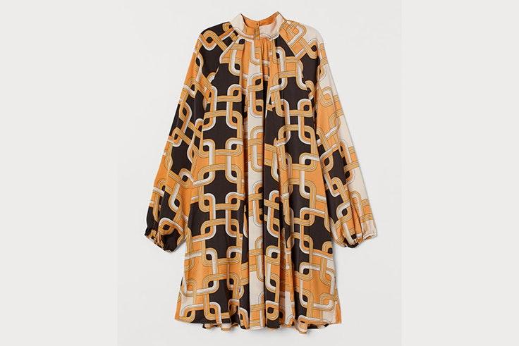 vestido corto estampado diseño richard allan para hm