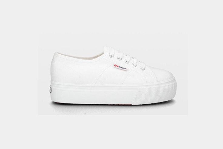 zapatilla blanca plataforma superga ulanka