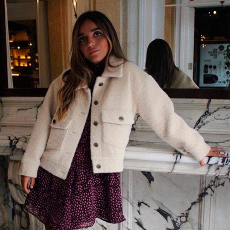 abrigo de borreguito ines arroyo estilo instagram