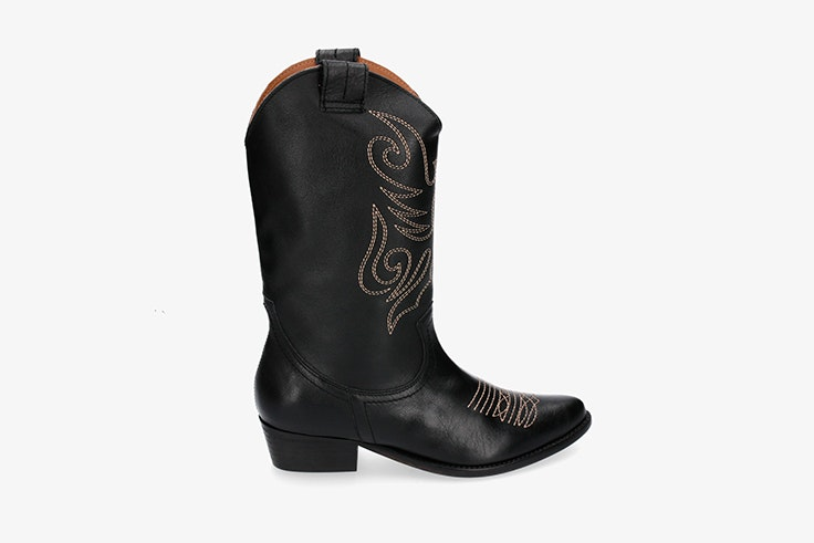 botas altas cowboy negras pablo ochoa