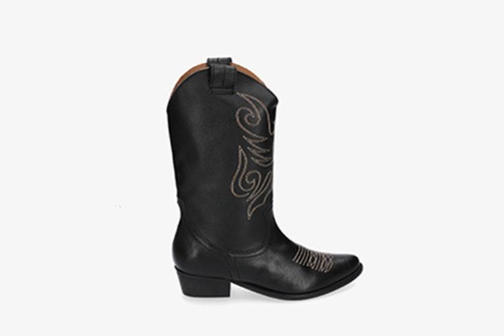 botas cowboy negras pablo ochoa calzado de otoño