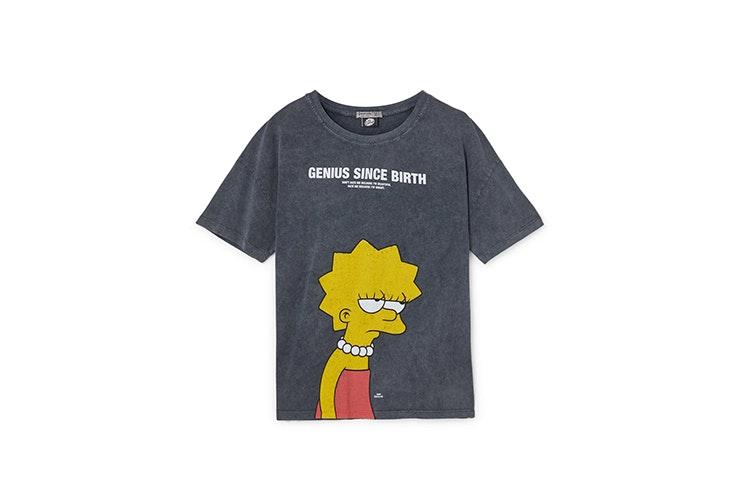 camiseta gris jaspeado lisa simpson stradivarius Carla Di Pinto