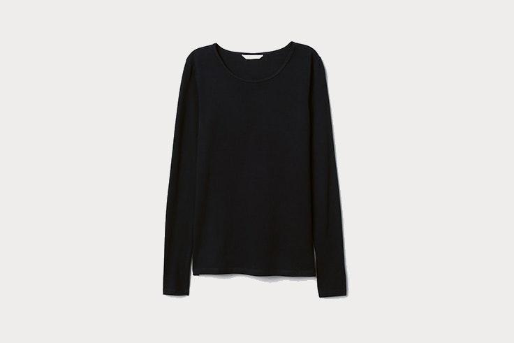 camiseta negra basica manga larga hym Patricia Aguado