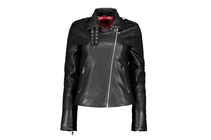 chaqueta de cuero negro new yorker