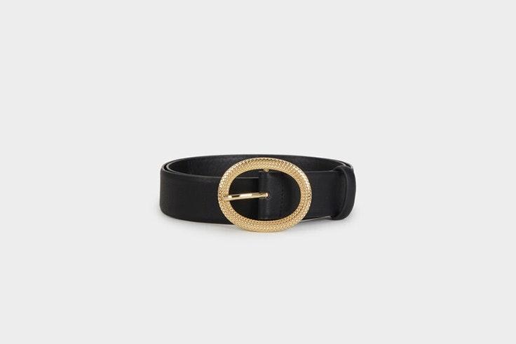 cinturon negro hebilla dorada parfois Patricia Aguado