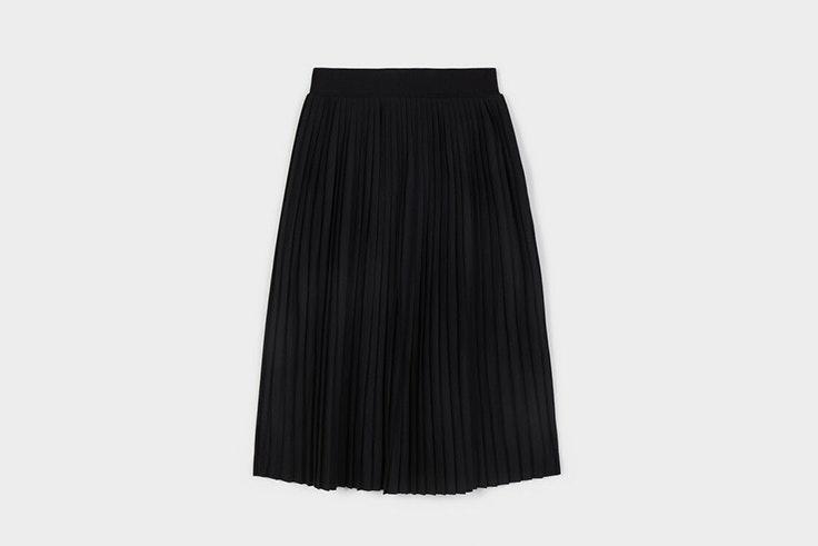 faldas midi plisada negra parfois