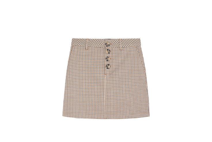 falda mini cuadros springfield faldas