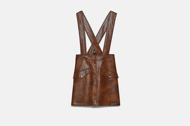 faldas mini piel zara