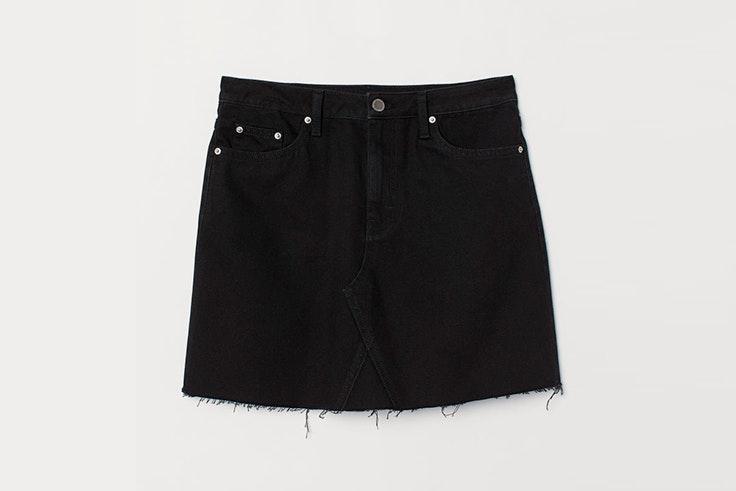 falda mini vaquera negra hm