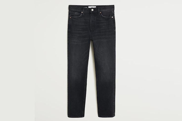 pantalon negro ancho mango