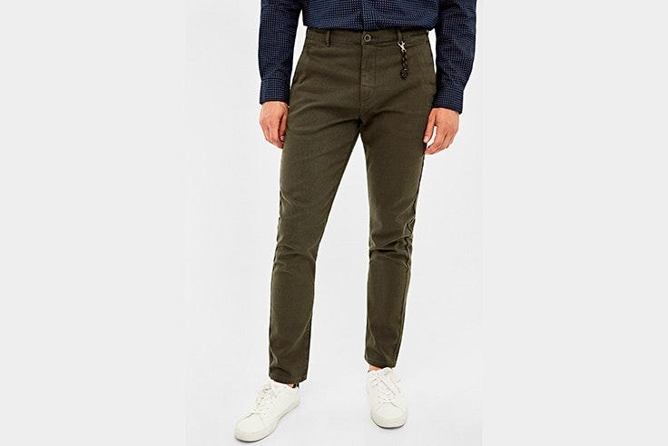 pantalon vaquero color verde kaki springfield