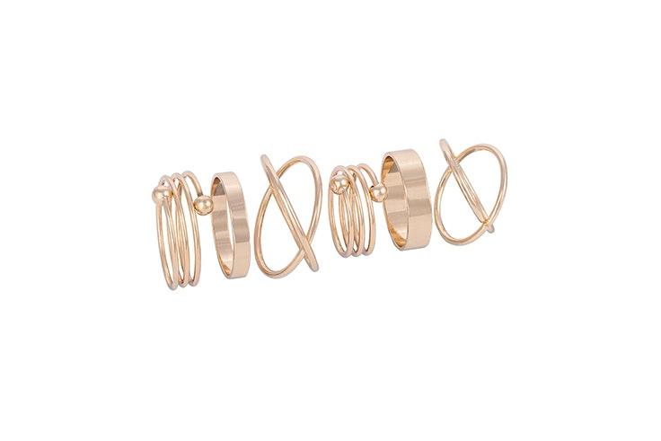 set anillos dorados bijou brigitte Carla Di Pinto