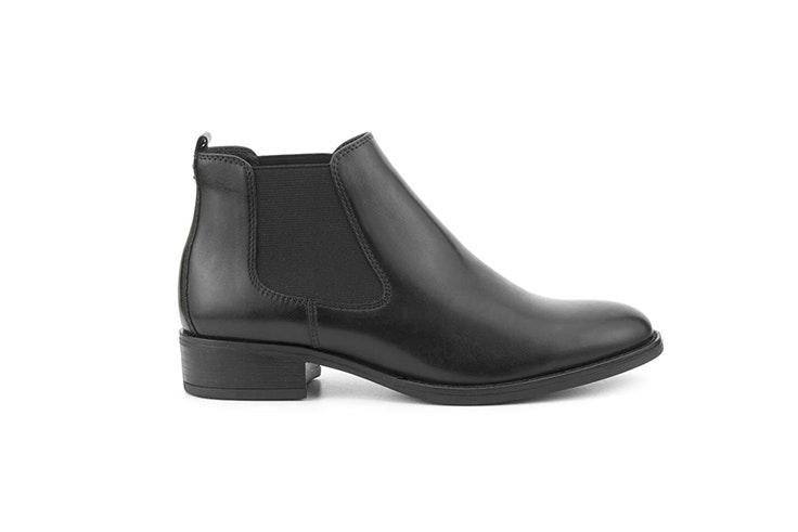 botines negros planos fosco merkal calzados