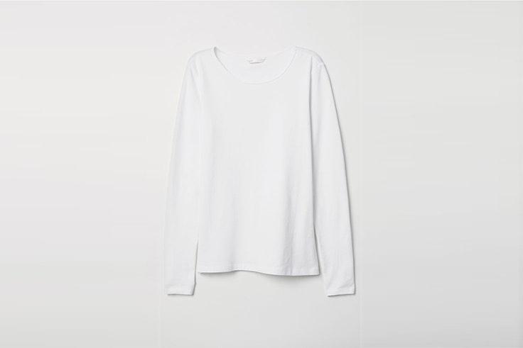 camiseta basica blanca de manga larga de hym Danielle Bernstein
