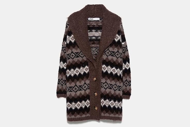 cardigans chaqueta de punto jacquard zara
