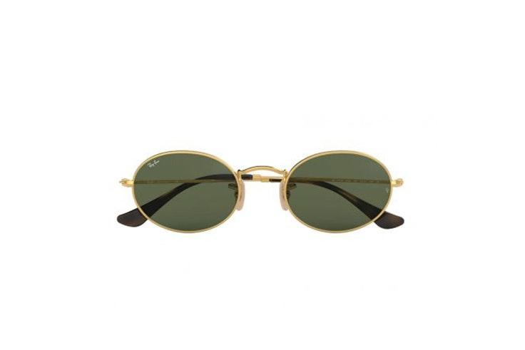 gafas de sol redondas rayban oval flat lenses soloptical María Valdés