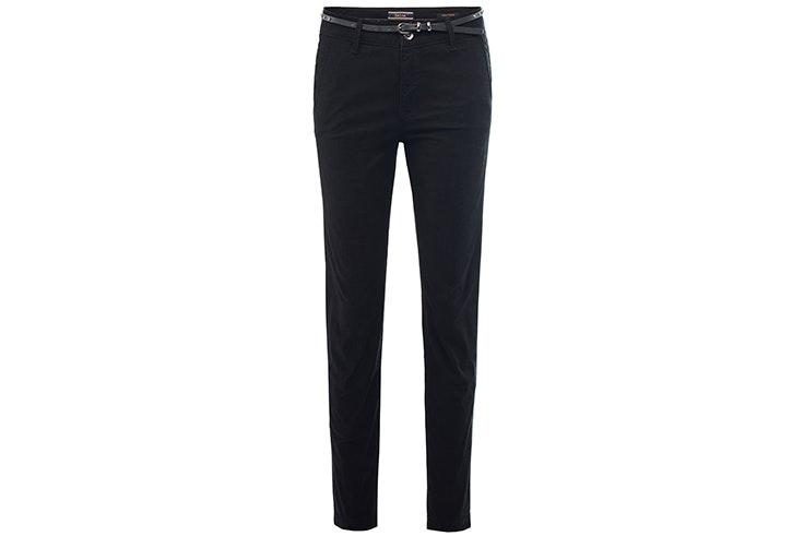 Pantalón negro con detalle de cinturón de Salsa
