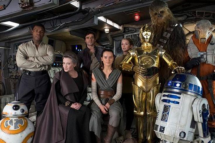 Parte del reparto de la nueva entrega de Star Wars. Episodio 9.