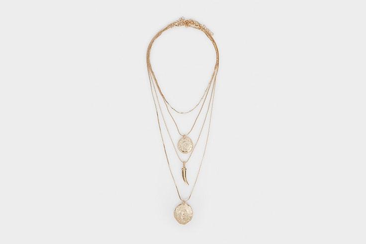 collar doble con medallas de parfois Olivia Frost