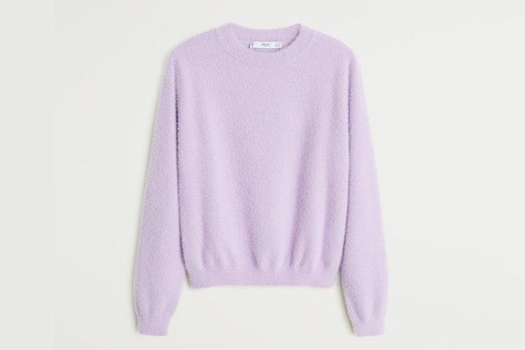 Jersey en color lila con textura suave de Mango