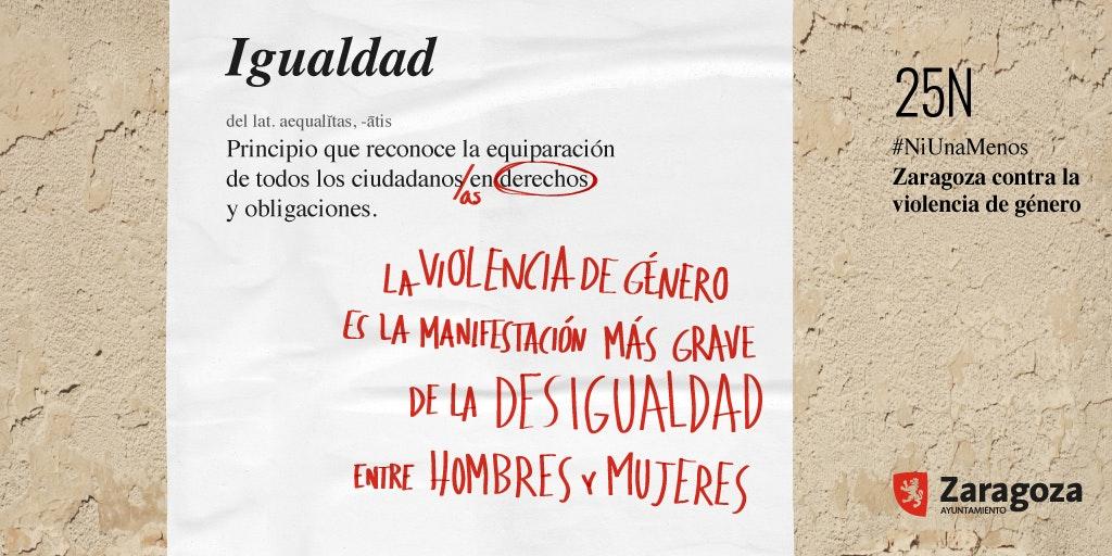 Día Internacional de la eliminación de la violencia contra la mujer en Zaragoza